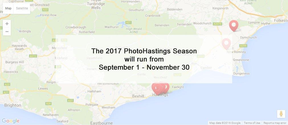 The 2017 PhotoHastings Season will run from September 1 - November 30